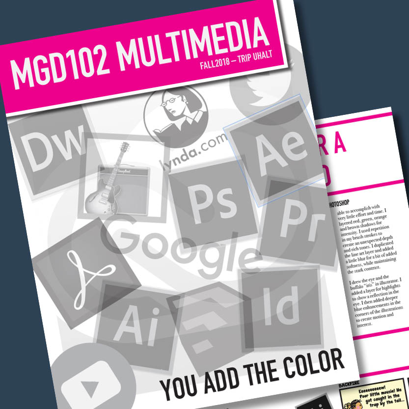 Newsletter for MGD Class Adobe InDesign