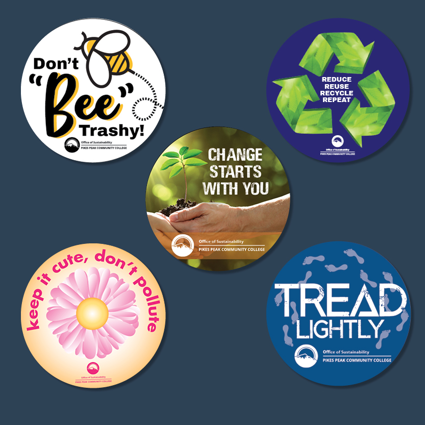 PPCC Sustainability Branding Stickers Printed 3 inch