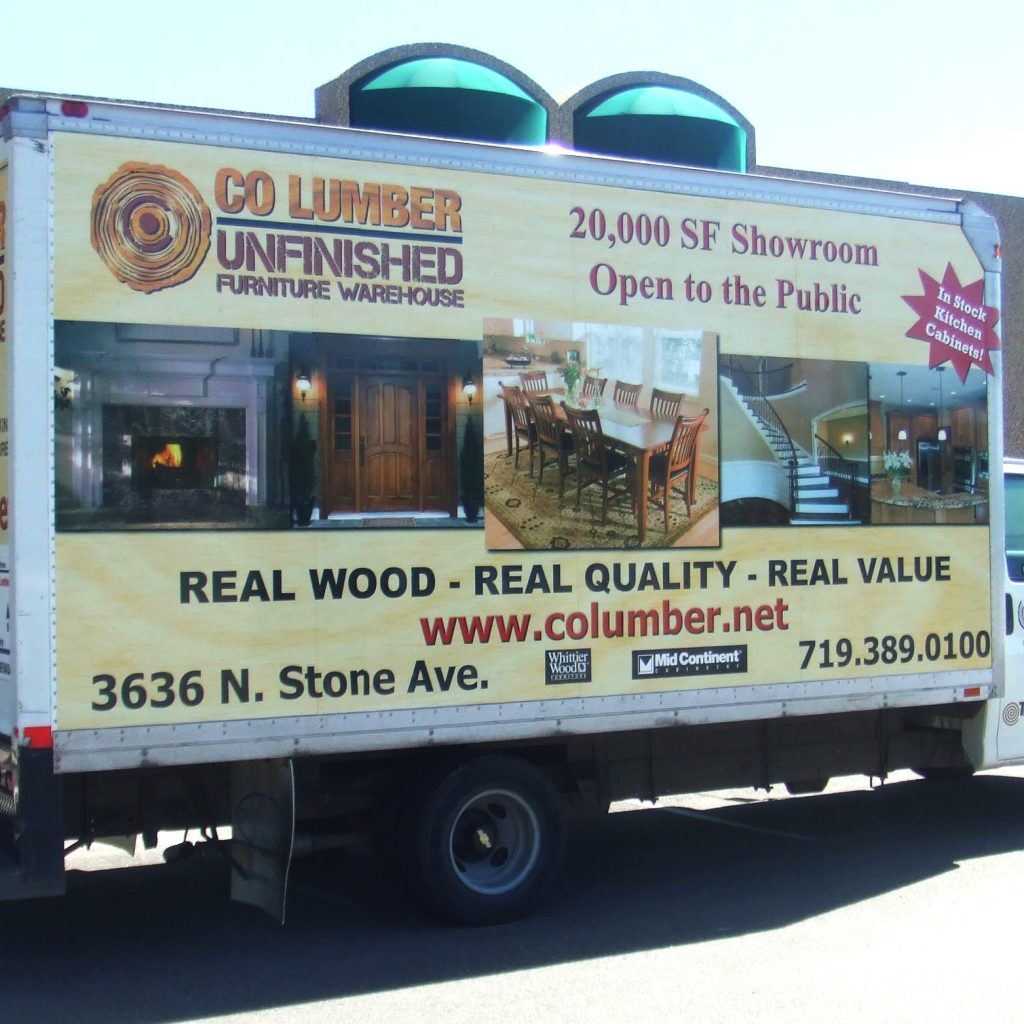 CO Lumber Box Truck Wrap - Three driving Billboards!